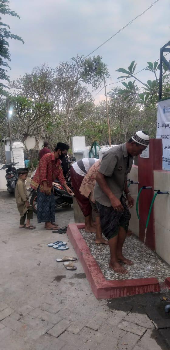 Bantuan pompa air dari pemerintah Qatar